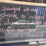 Password - Incorrect